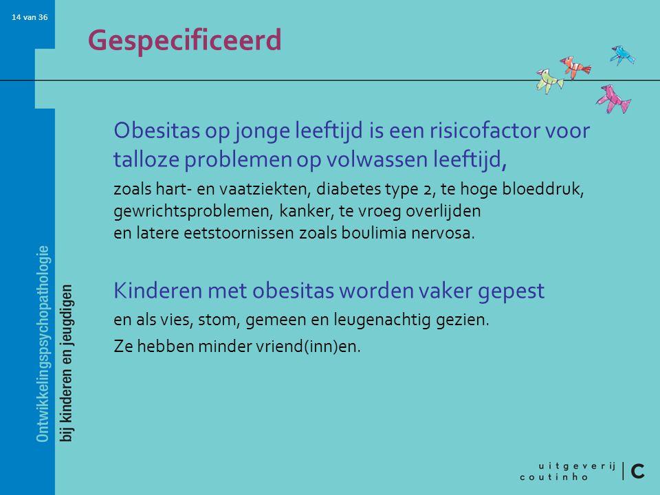 Gespecificeerd Obesitas op jonge leeftijd is een risicofactor voor talloze problemen op volwassen leeftijd,