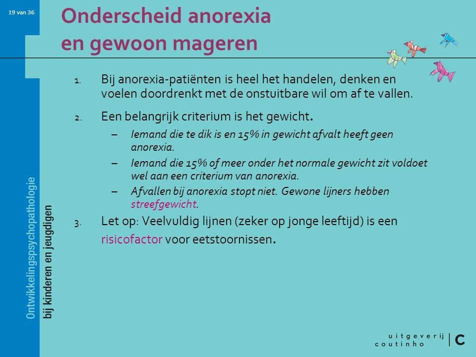 Onderscheid anorexia en gewoon mageren