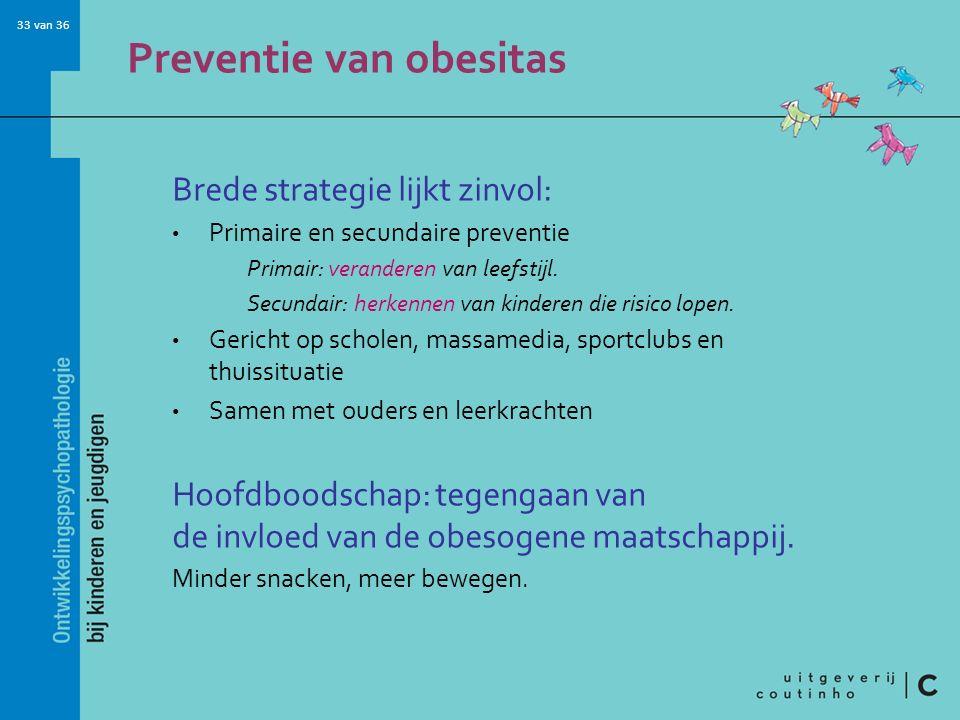 Preventie van obesitas