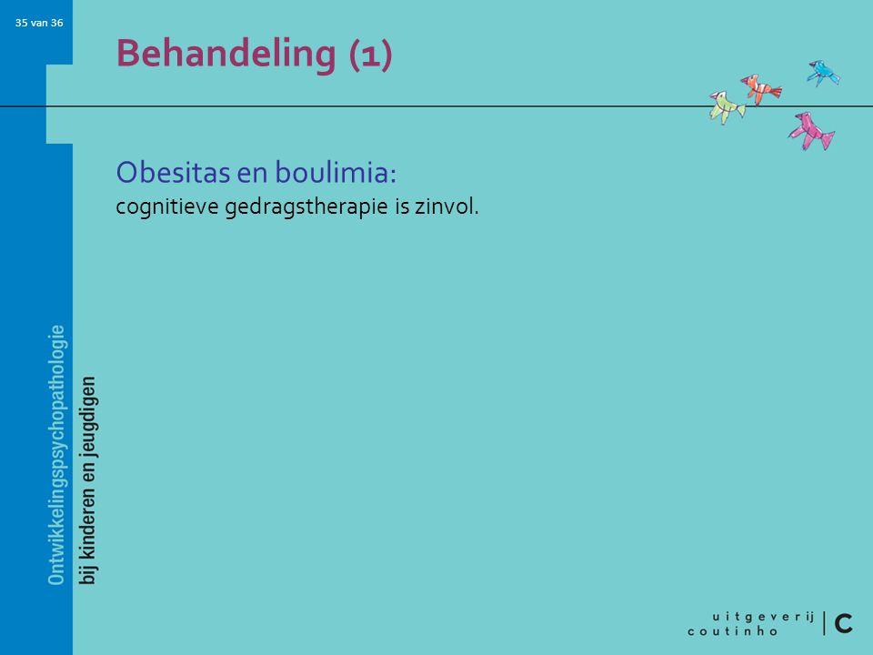 Behandeling (1) Obesitas en boulimia: cognitieve gedragstherapie is zinvol.