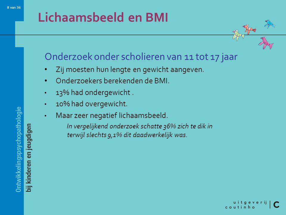 Lichaamsbeeld en BMI Onderzoek onder scholieren van 11 tot 17 jaar