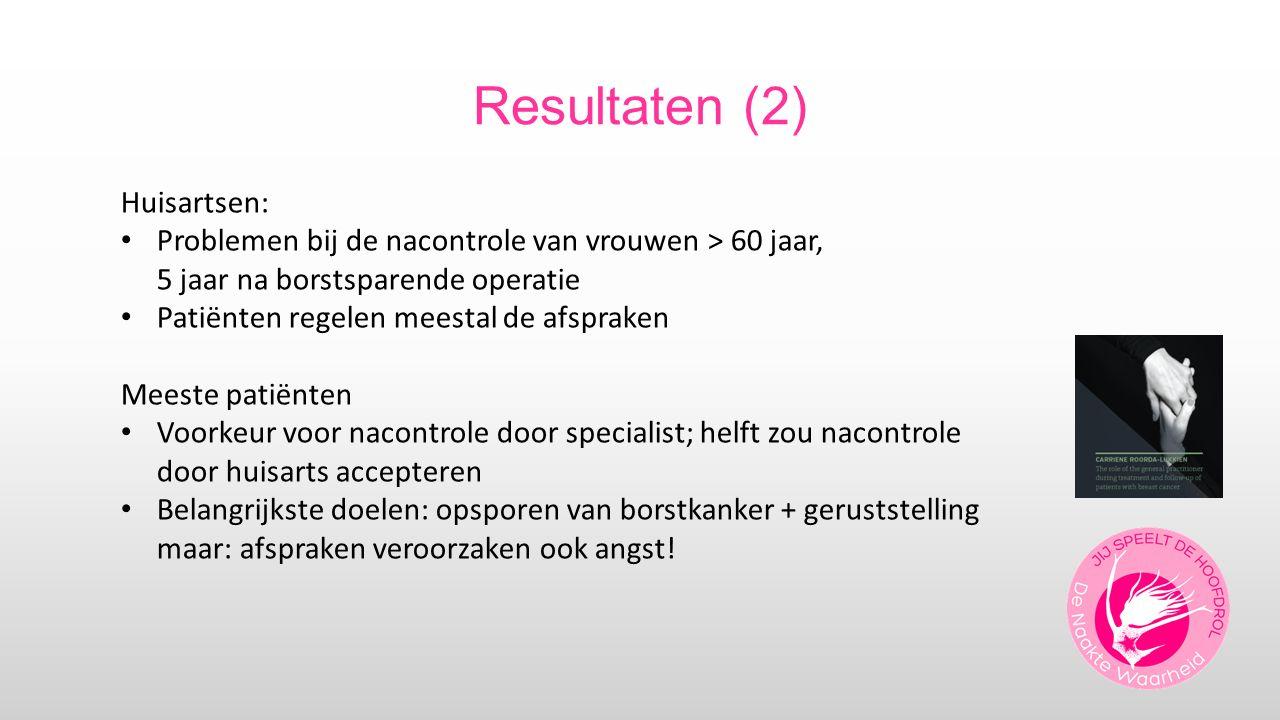 Resultaten (2) Huisartsen:
