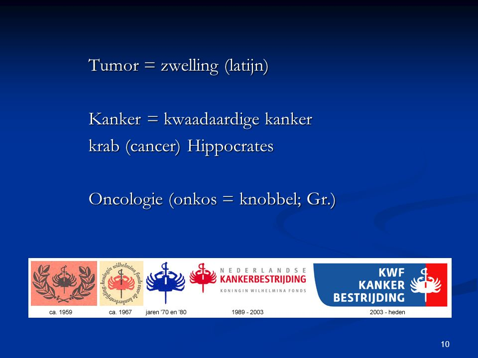 Tumor = zwelling (latijn)