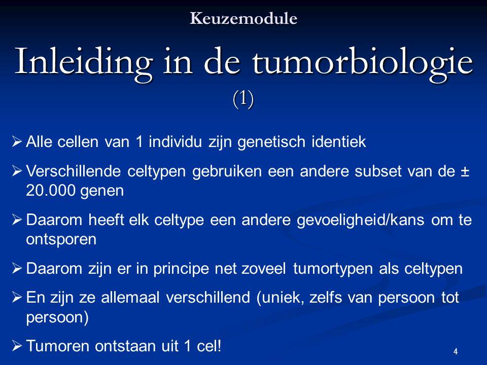 Inleiding in de tumorbiologie (1)