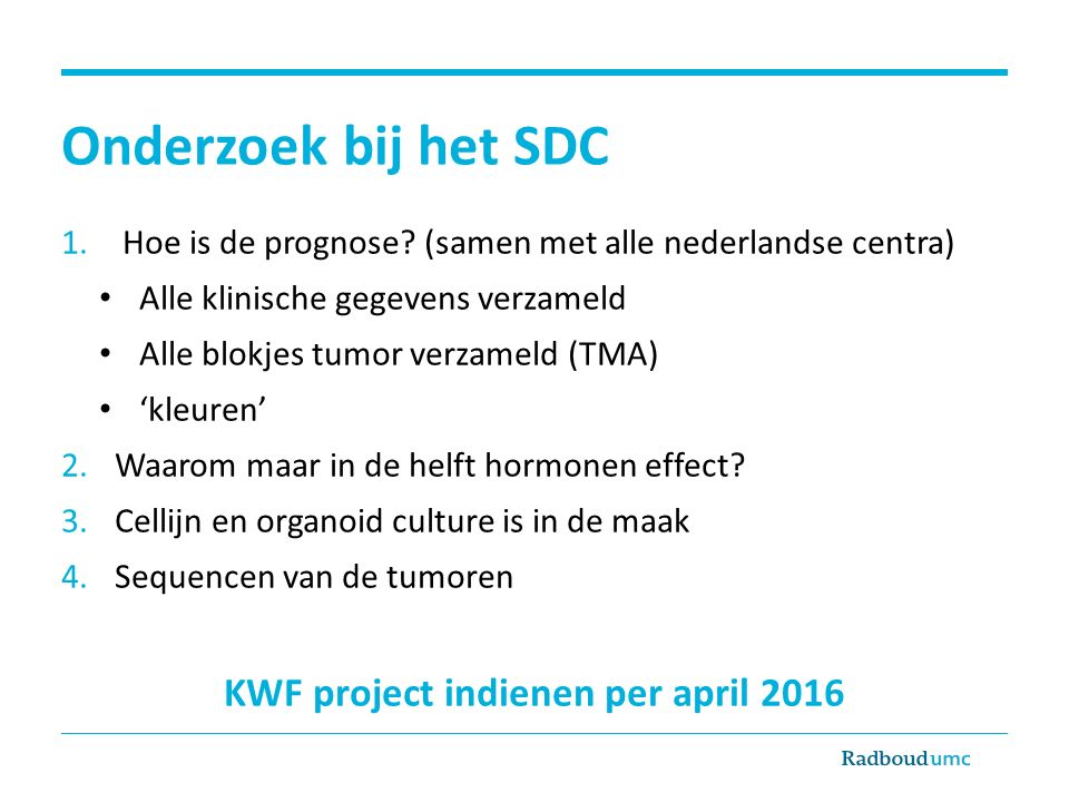 KWF project indienen per april 2016