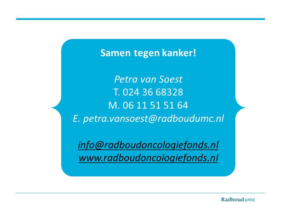 E. petra.vansoest@radboudumc.nl