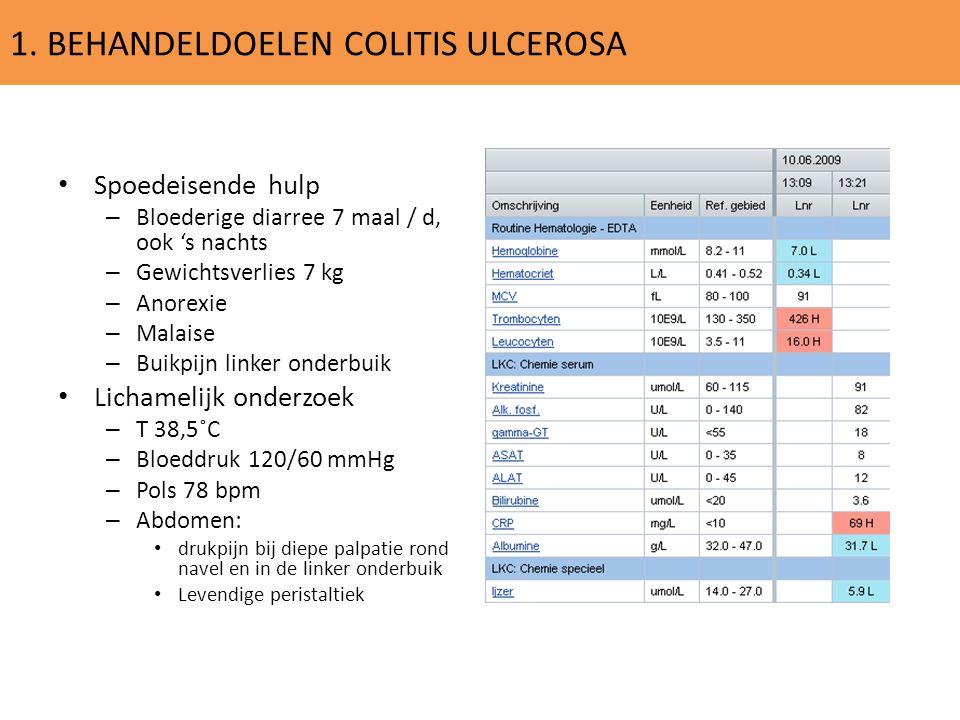 1. BEHANDELDOELEN COLITIS ULCEROSA