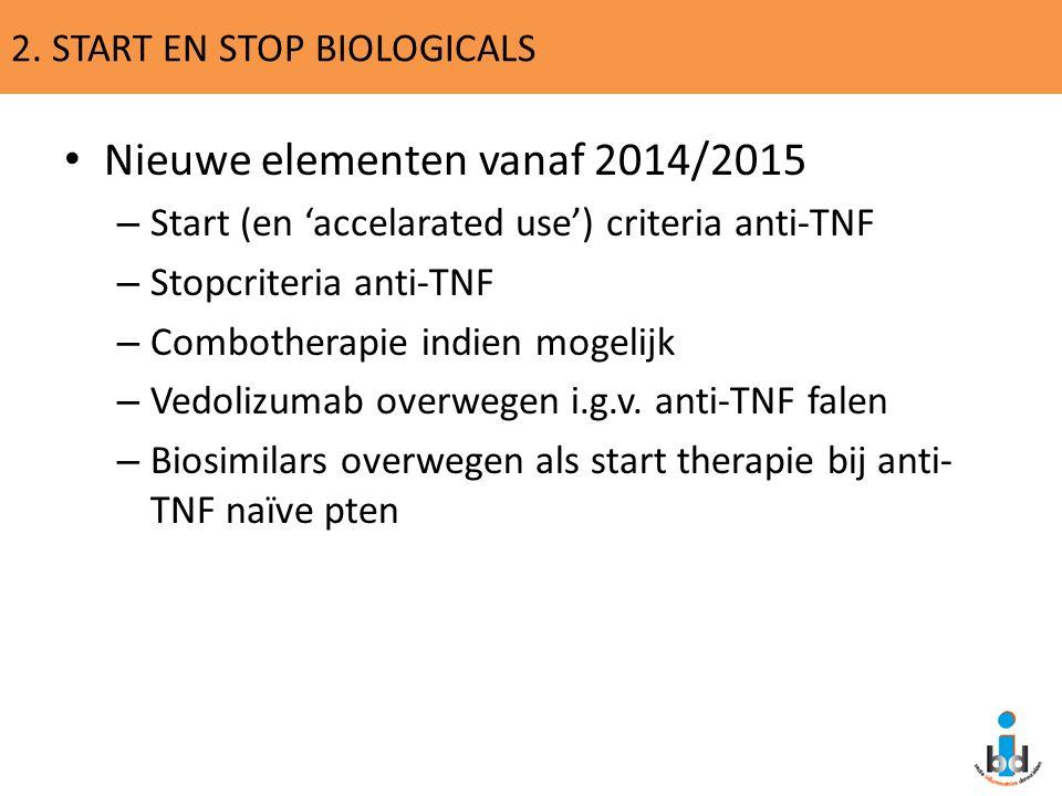 2. START EN STOP BIOLOGICALS