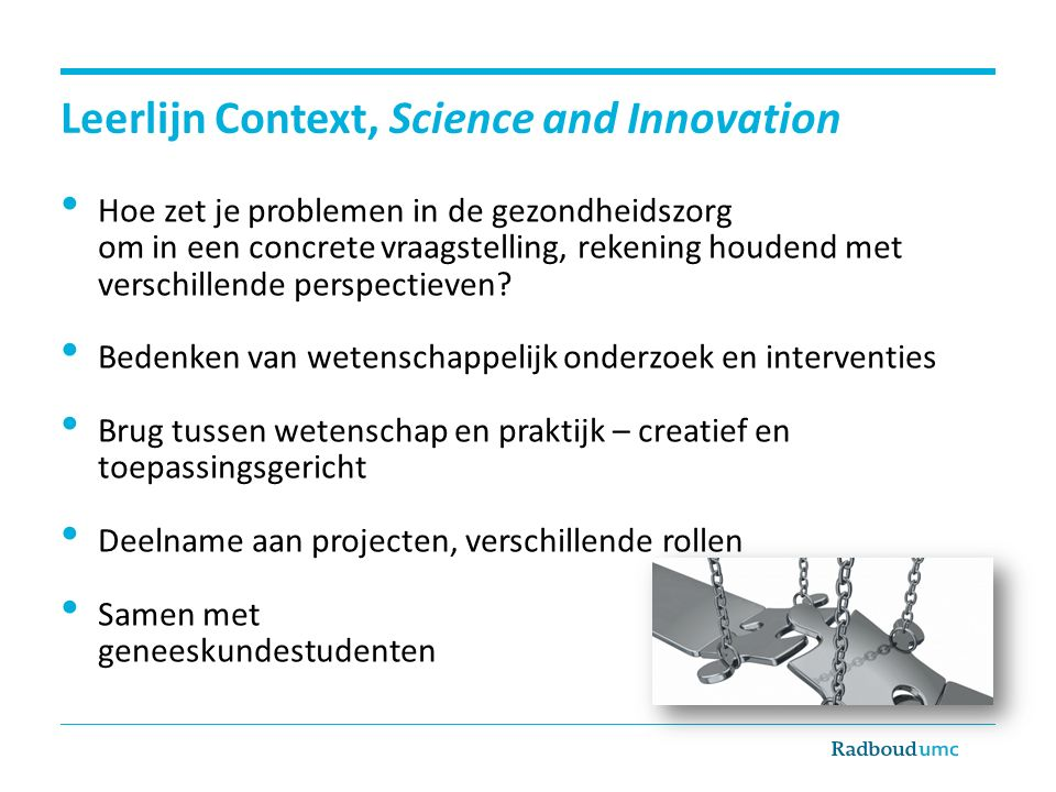 Leerlijn Context, Science and Innovation