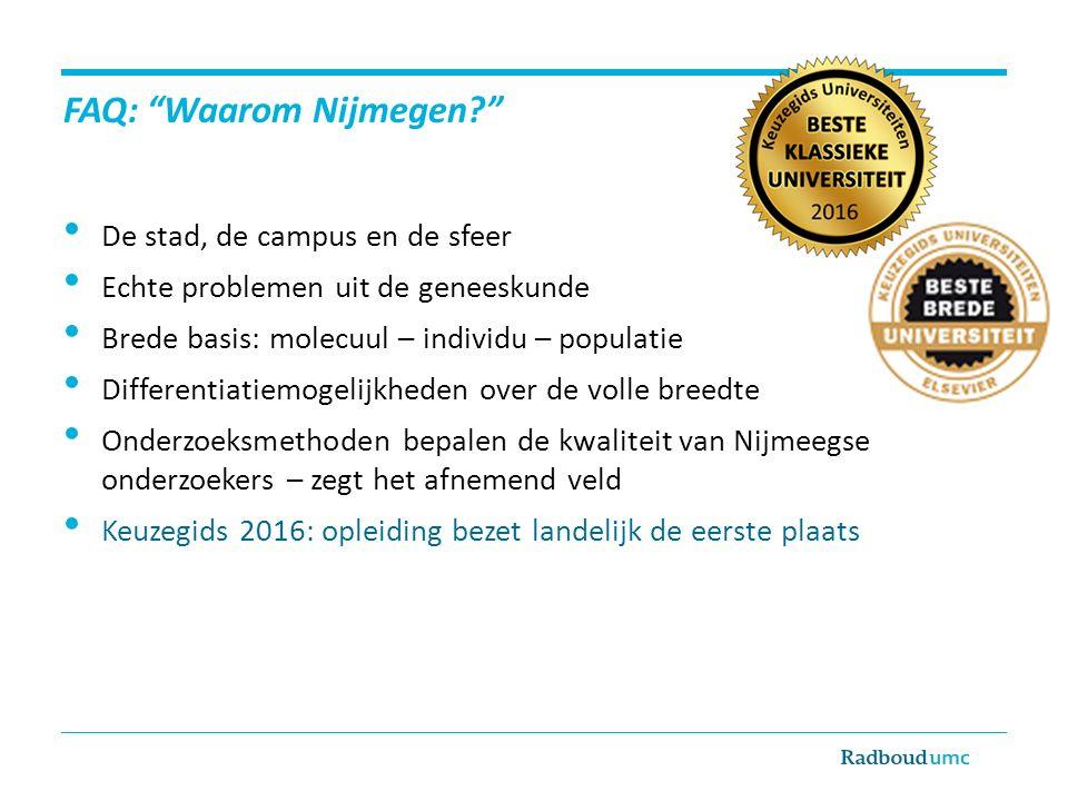 FAQ: Waarom Nijmegen