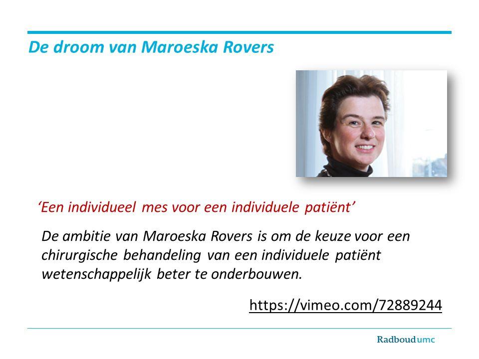 De droom van Maroeska Rovers