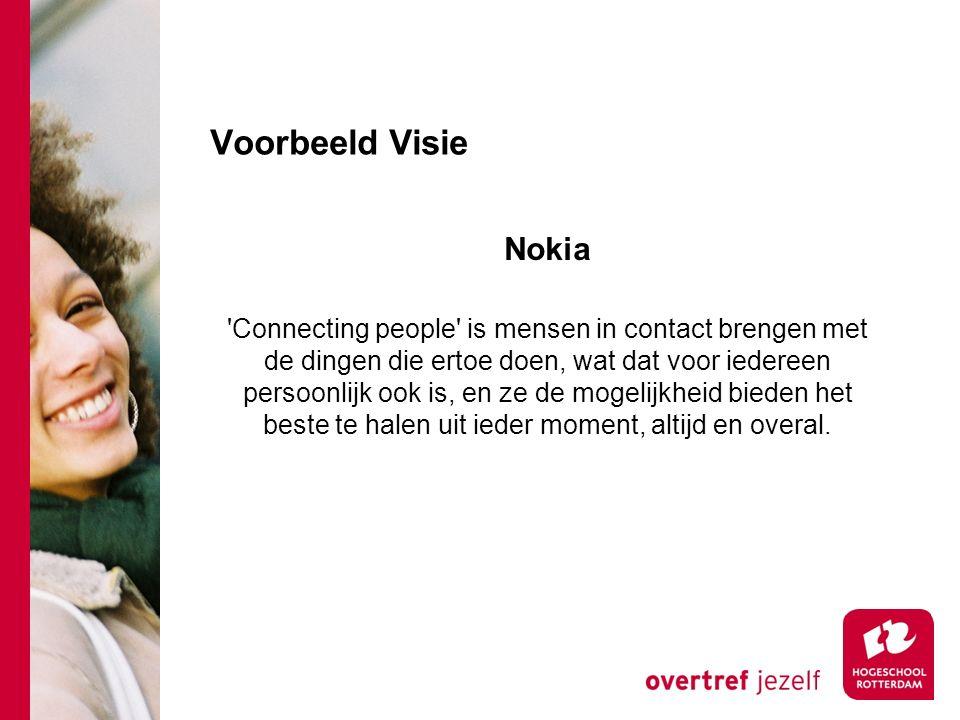 Voorbeeld Visie Nokia.