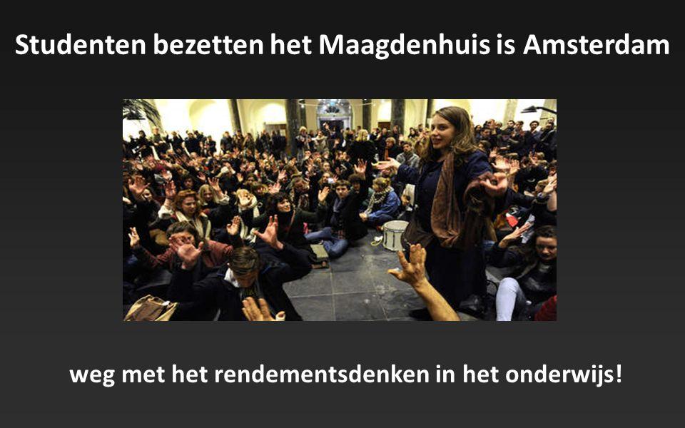 Studenten bezetten het Maagdenhuis is Amsterdam