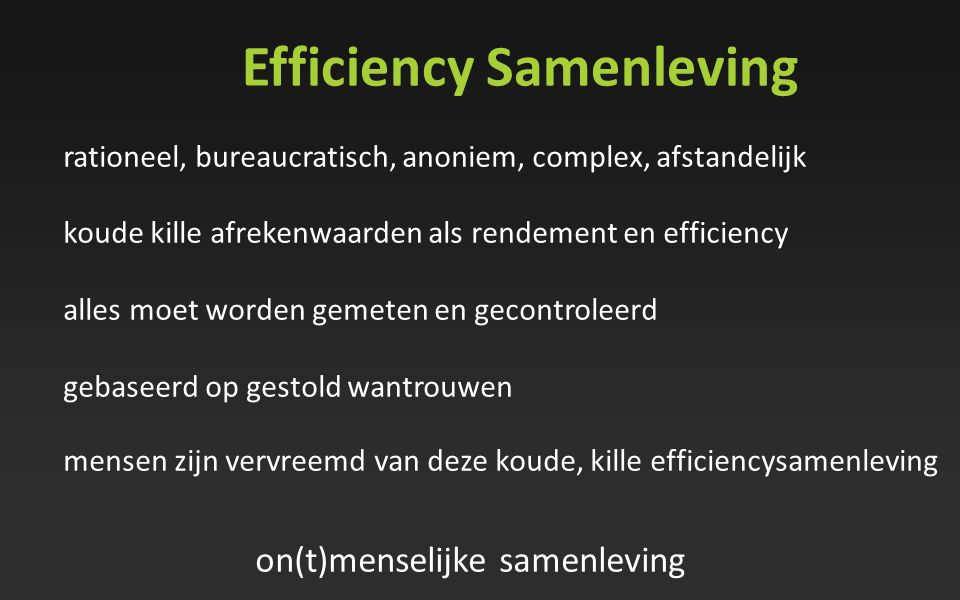 Efficiency Samenleving