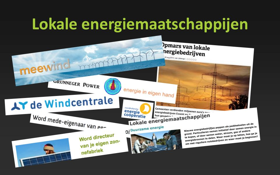 Lokale energiemaatschappijen
