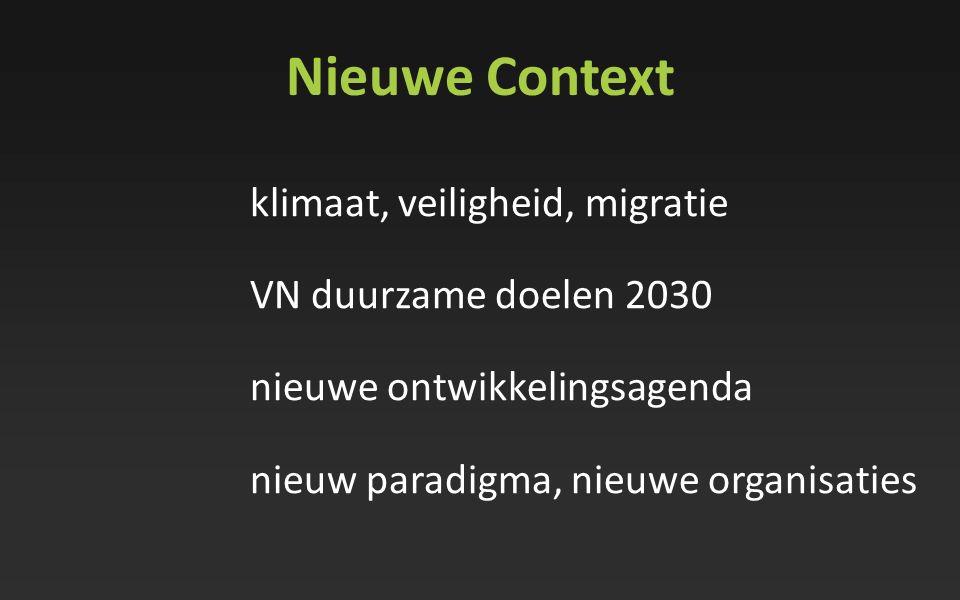Nieuwe Context VN duurzame doelen 2030 nieuwe ontwikkelingsagenda