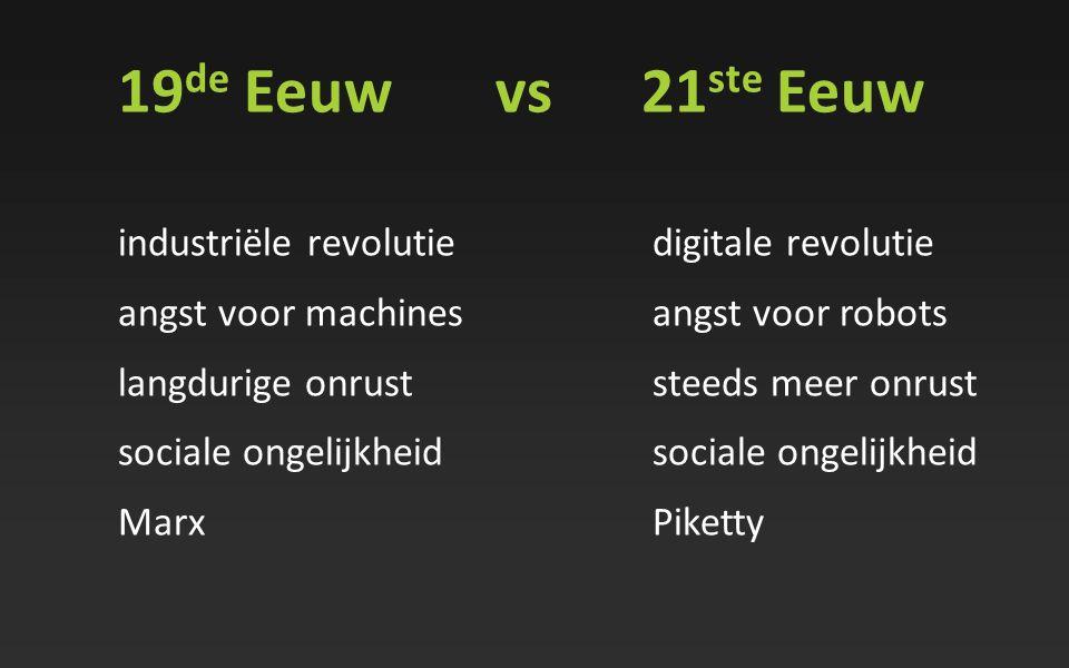 19de Eeuw vs 21ste Eeuw