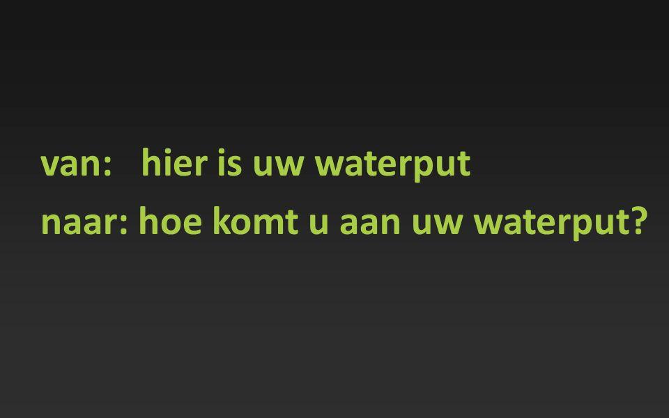 van: hier is uw waterput
