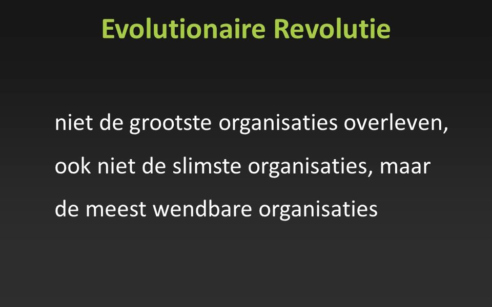 Evolutionaire Revolutie