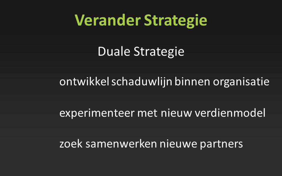 Verander Strategie Duale Strategie
