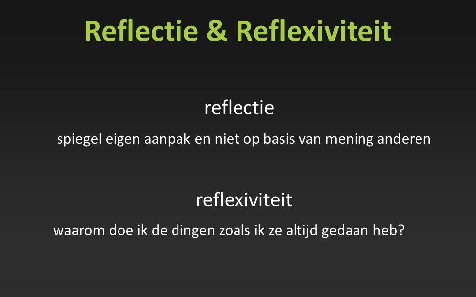 Reflectie & Reflexiviteit