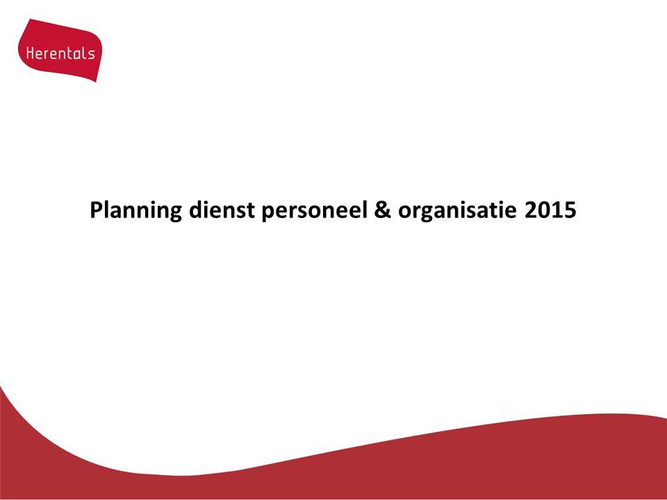 Planning dienst personeel & organisatie 2015