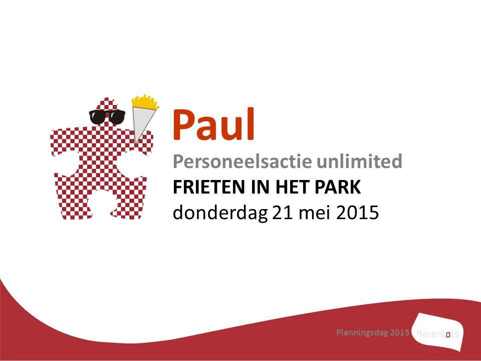 Paul Personeelsactie unlimited FRIETEN IN HET PARK