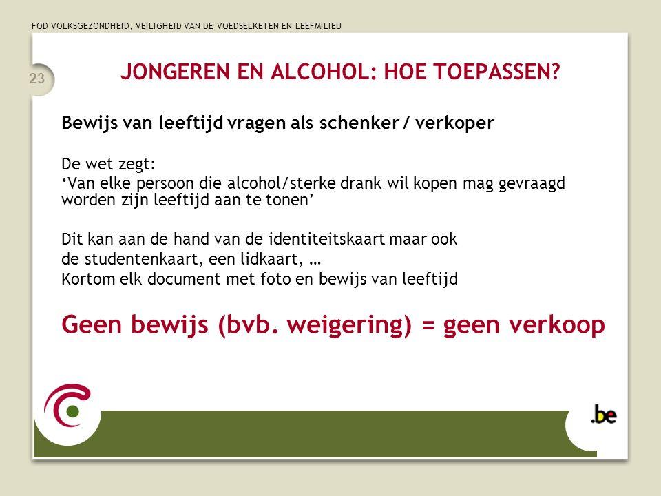JONGEREN EN ALCOHOL: HOE TOEPASSEN