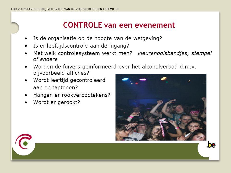 CONTROLE van een evenement
