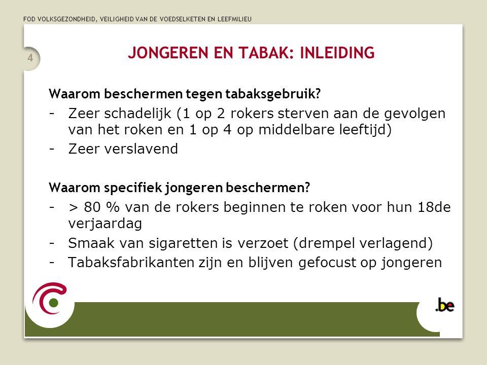 JONGEREN EN TABAK: INLEIDING