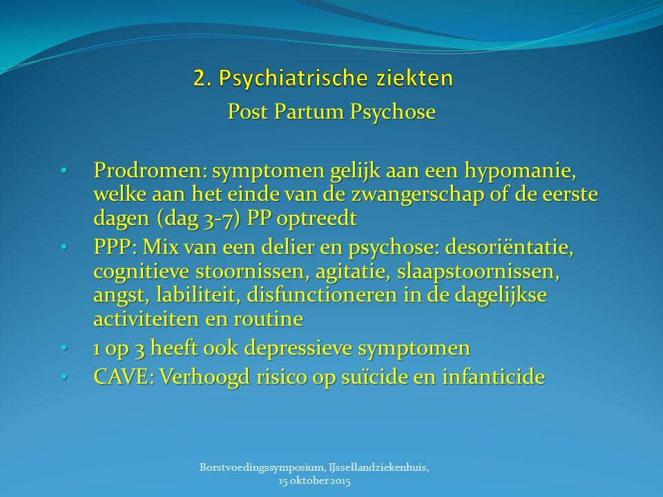2. Psychiatrische ziekten