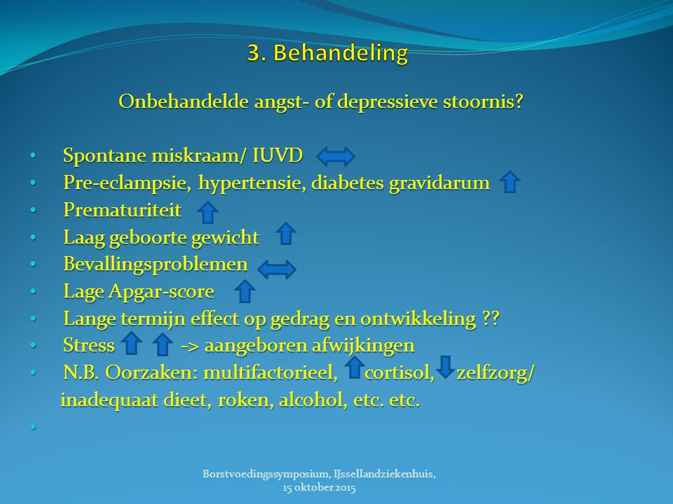 3. Behandeling Onbehandelde angst- of depressieve stoornis