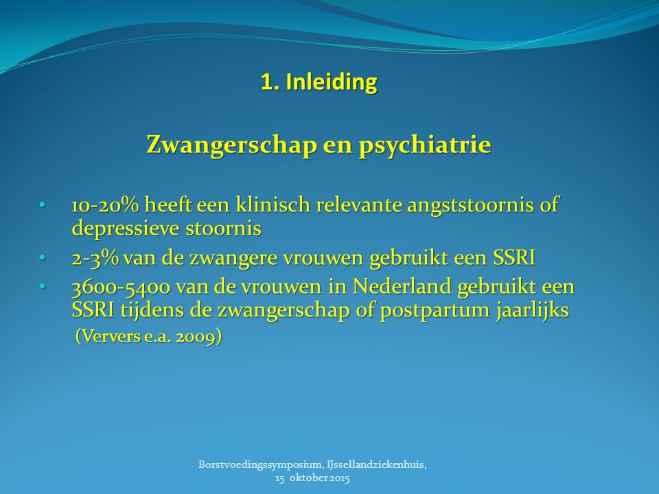 Zwangerschap en psychiatrie