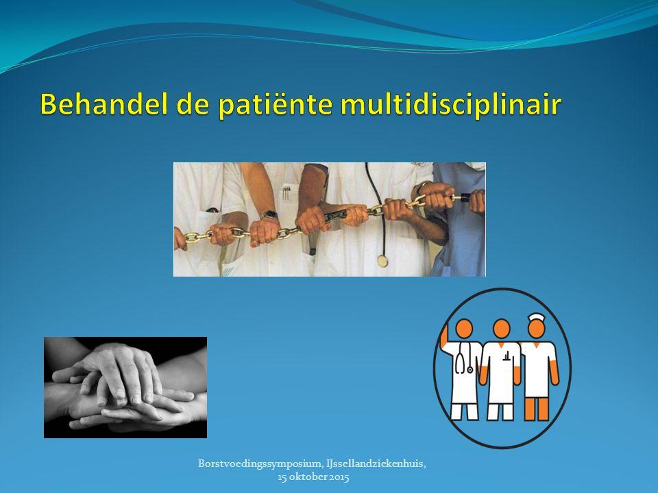 Behandel de patiënte multidisciplinair