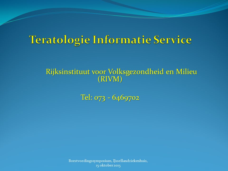 Teratologie Informatie Service