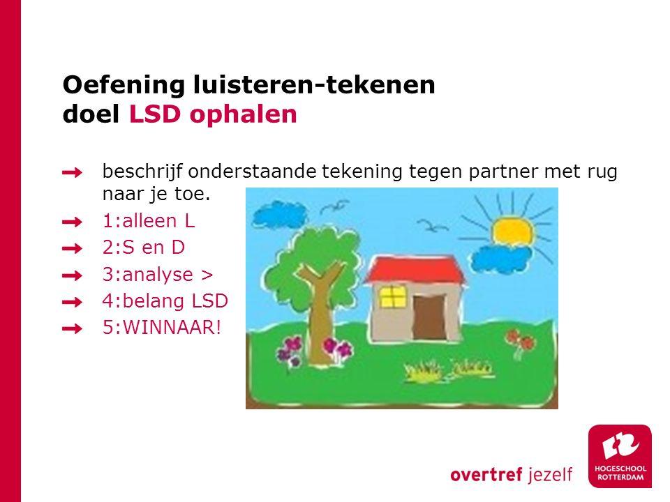 Oefening luisteren-tekenen doel LSD ophalen