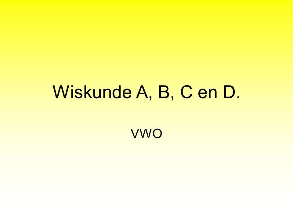 Wiskunde A, B, C en D. VWO