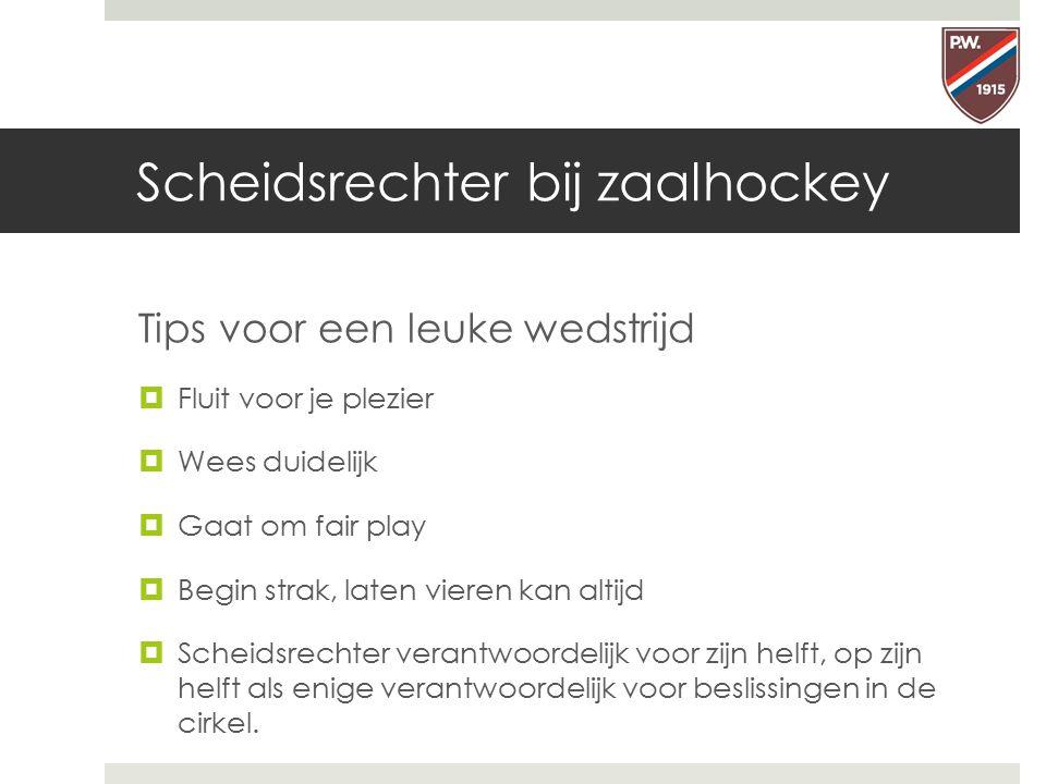 Scheidsrechter bij zaalhockey