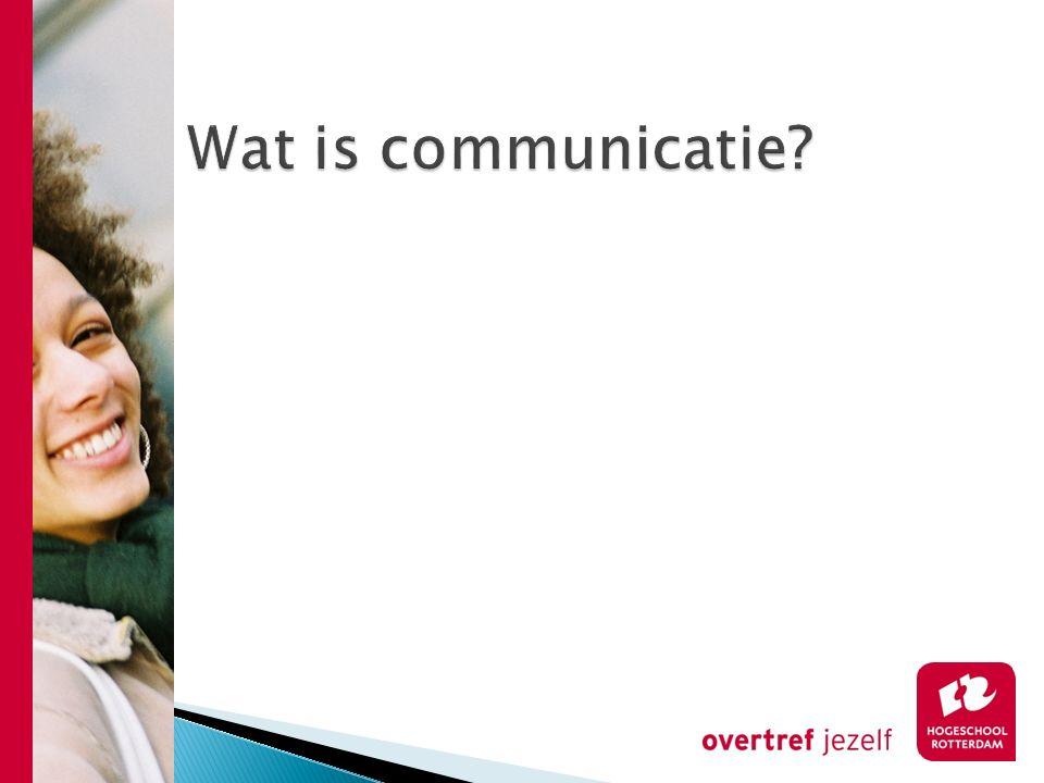 Wat is communicatie