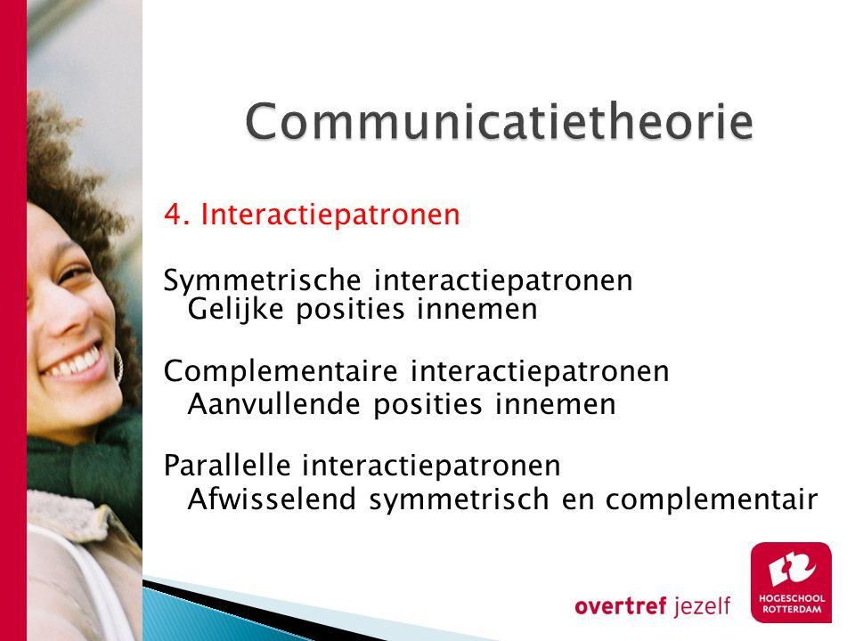 Communicatietheorie 4. Interactiepatronen