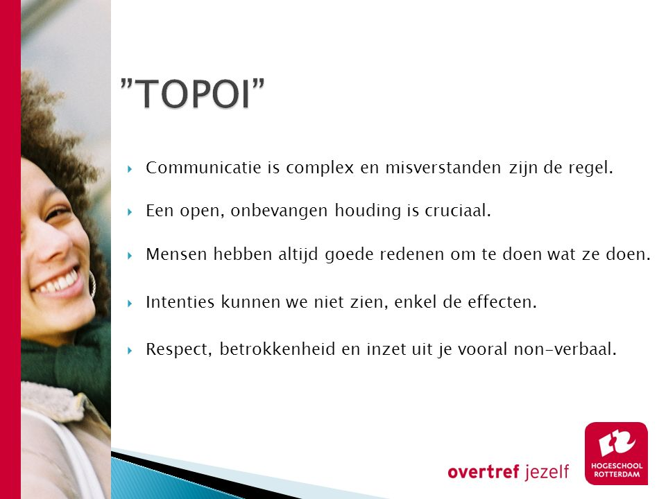 TOPOI Communicatie is complex en misverstanden zijn de regel.