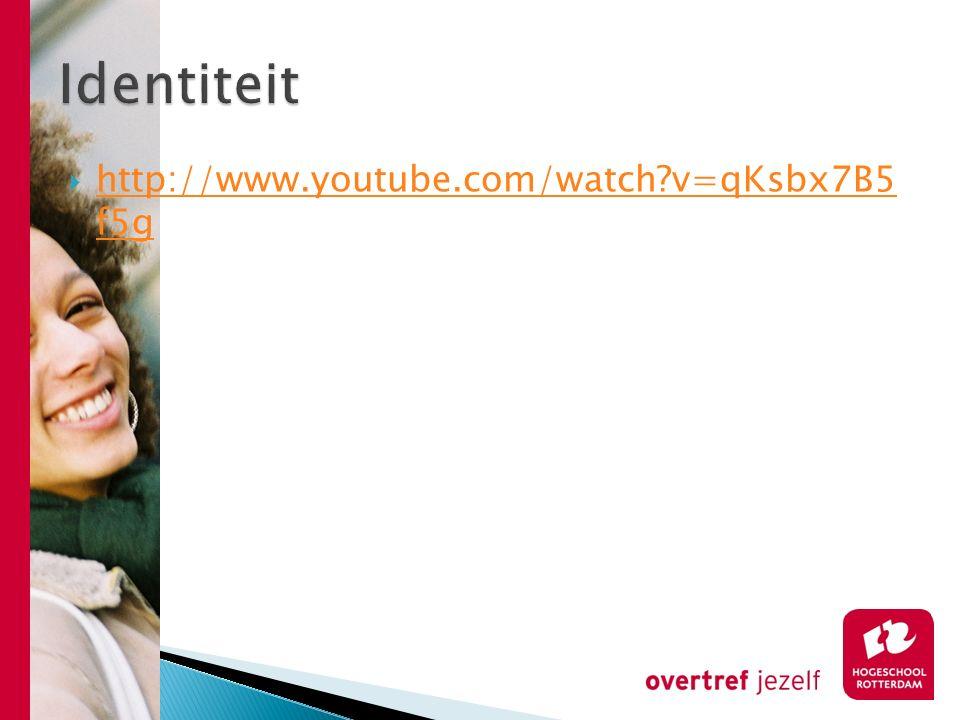 Identiteit http://www.youtube.com/watch v=qKsbx7B5 f5g