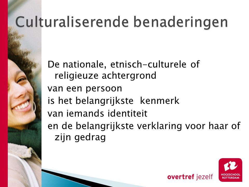 Culturaliserende benaderingen