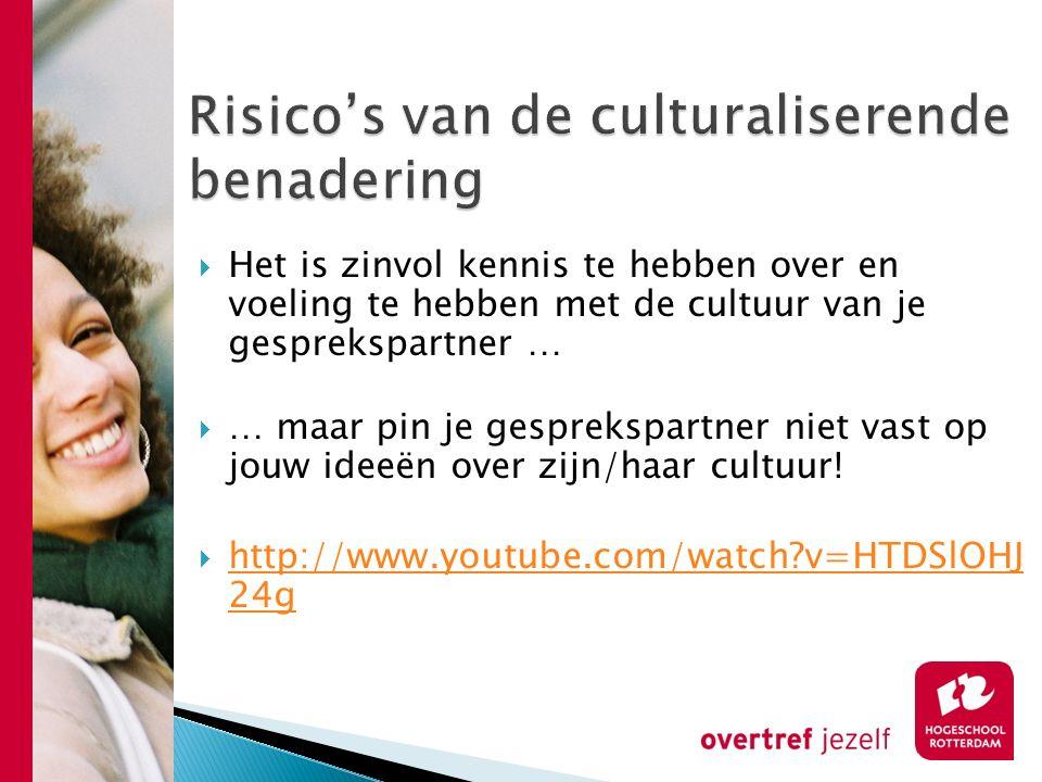Risico's van de culturaliserende benadering