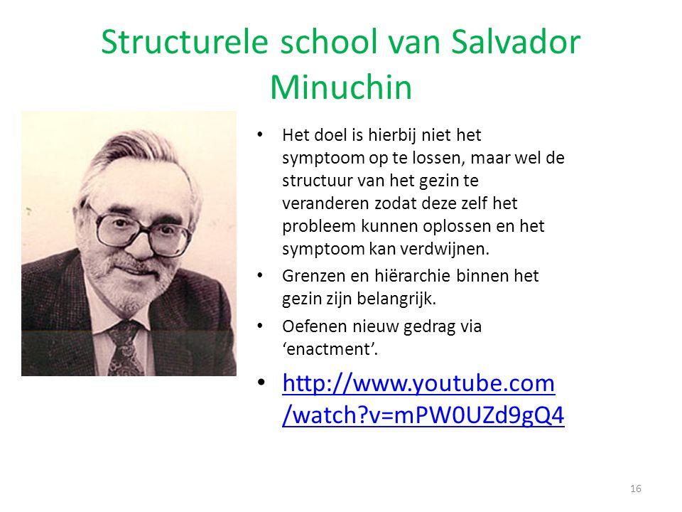 Structurele school van Salvador Minuchin