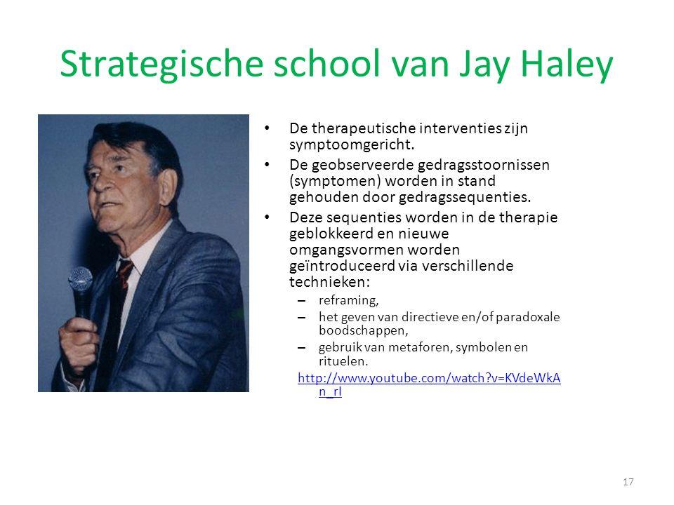 Strategische school van Jay Haley