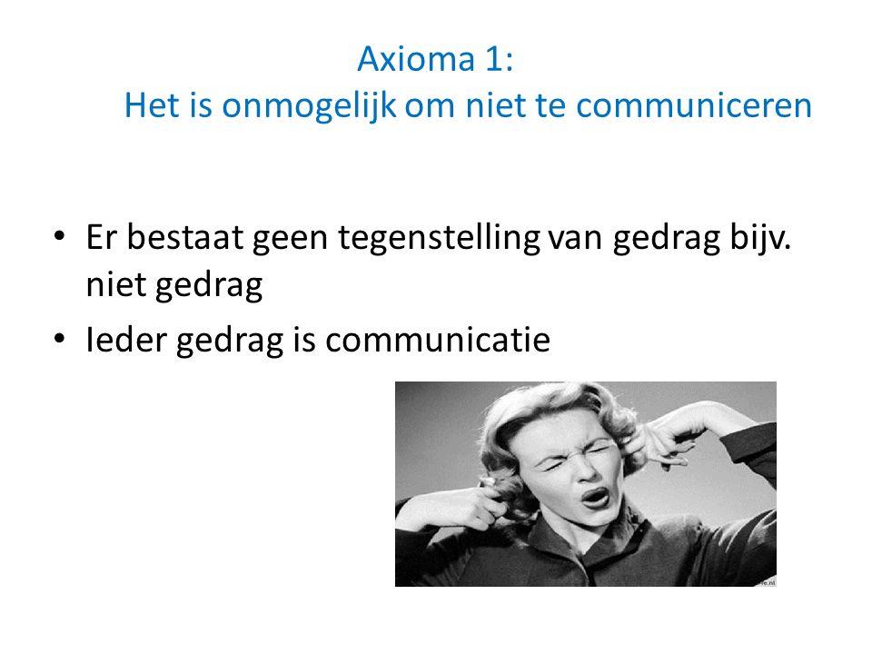 Axioma 1: Het is onmogelijk om niet te communiceren