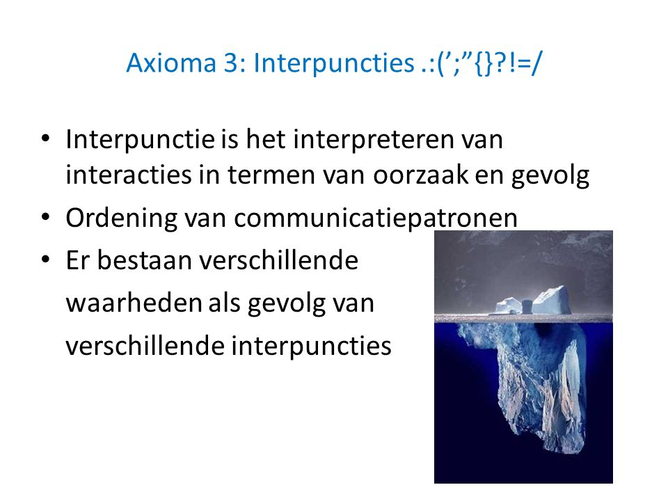 Axioma 3: Interpuncties .:('; {} !=/