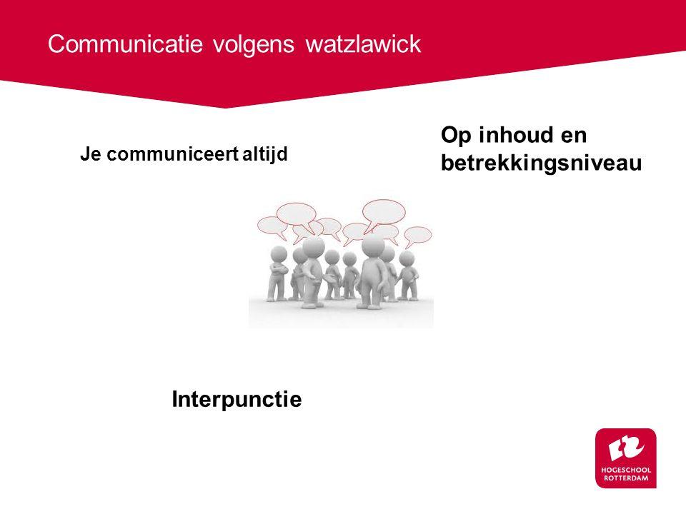 Communicatie volgens watzlawick