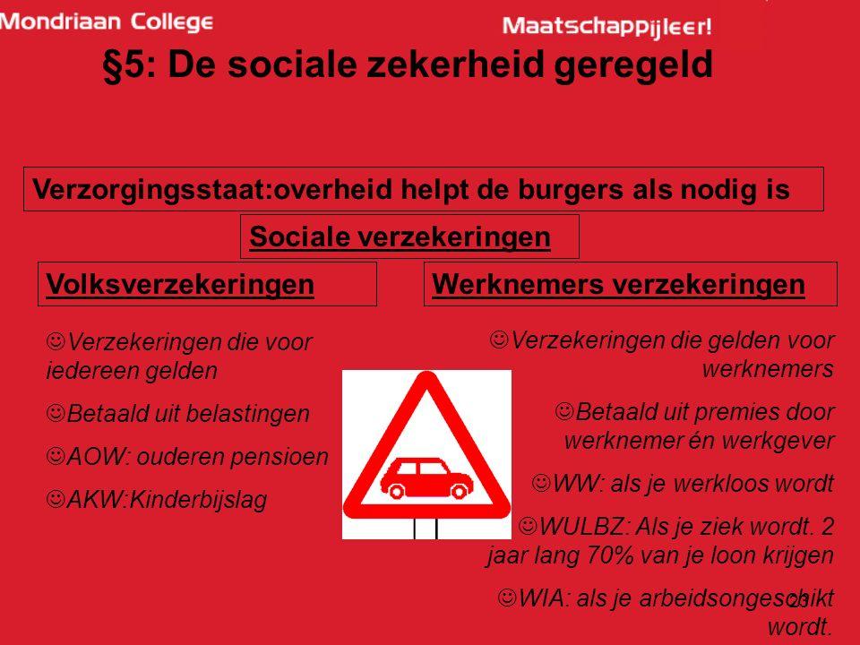 §5: De sociale zekerheid geregeld